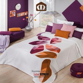 Copriletto Trapuntato Manterol 632-13 | Geo Arancione