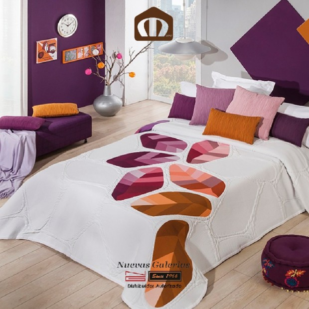 Colcha Jacquard Manterol 632 09 | Geo Naranja