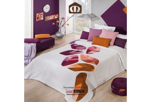 Copriletto Trapuntato Manterol 632-13   Geo Arancione