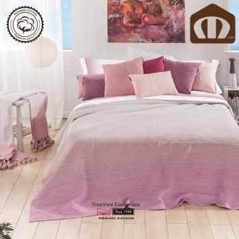 Manterol Baumwolle Bettüberwurf 003-14 | Formentera Rose