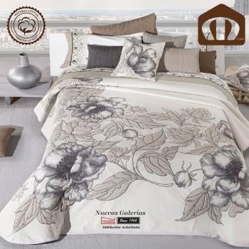 Copriletto Trapuntato di cottone Manterol 127-06 | Blume Beig