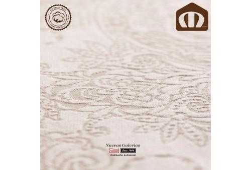 Copriletto Trapuntato di cottone Manterol 210-03   Naroa Beig