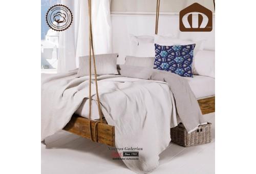 Copriletto Trapuntato di cottone Manterol 002-13 | Ibiza Bianco