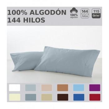 Funda de almohada COMBI LISOS. 100% algodón (144 hilos). Es-Tela