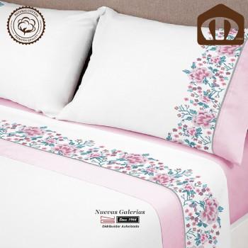 Completo Lenzuola Manterol cotone | 631-14 Rosa