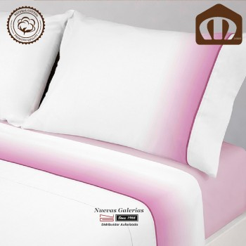 Completo Lenzuola Manterol cotone | 003-14 Rosa