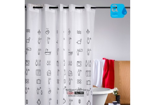 Atenas Shower Curtain | 225 Icons