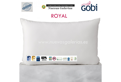 Ferdown Cuscino 100% Piumino d'Oca | Ferdown - 1 Royal Pillow 100% Bianco Giù Supremo | Ferdown disponibile Firm e Firmness Firm