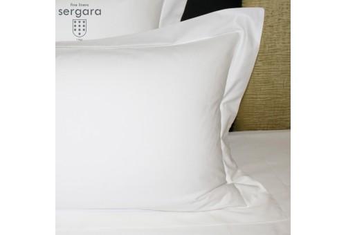 Sergara Pillowcase 600 Thread Egyptian Cotton Sateen   Bourdon