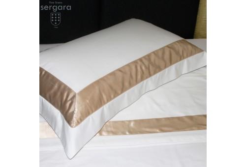 Taie d'oreiller Sergara de coton Égyptien 600 fils | Bicolor