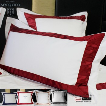 Sergara Pillowcase 600 Thread Egyptian Cotton Sateen | Bicolor