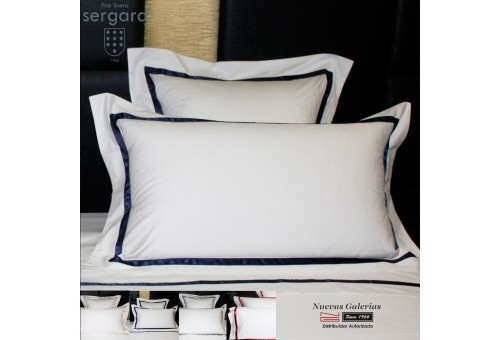 Sergara Pillowcase 600 Thread Egyptian Cotton Sateen | Illusion