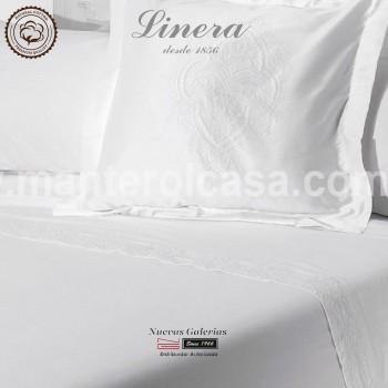 Linera Sommerbettwäsche Baumwolle 200 Fäden | Ricamo weiß