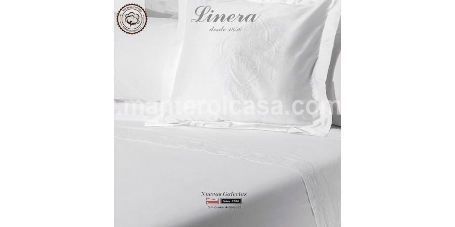 Completo Lenzuola Linera 200 filo cotone | Ricamo Bianco