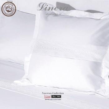 Linera Sommerbettwäsche Baumwolle 200 Fäden | Bianca weiß