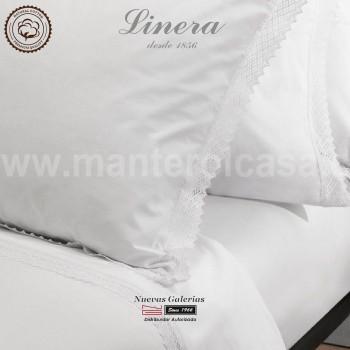 Ensemble de draps Linera de coton 200 fils | Crochet Blanc
