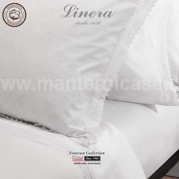 Completo Lenzuola Linera 200 filo cotone | Crochet Bianco