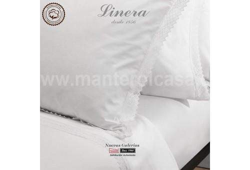 Juego Sabanas Linera | Crochet Blanco 200 hilos