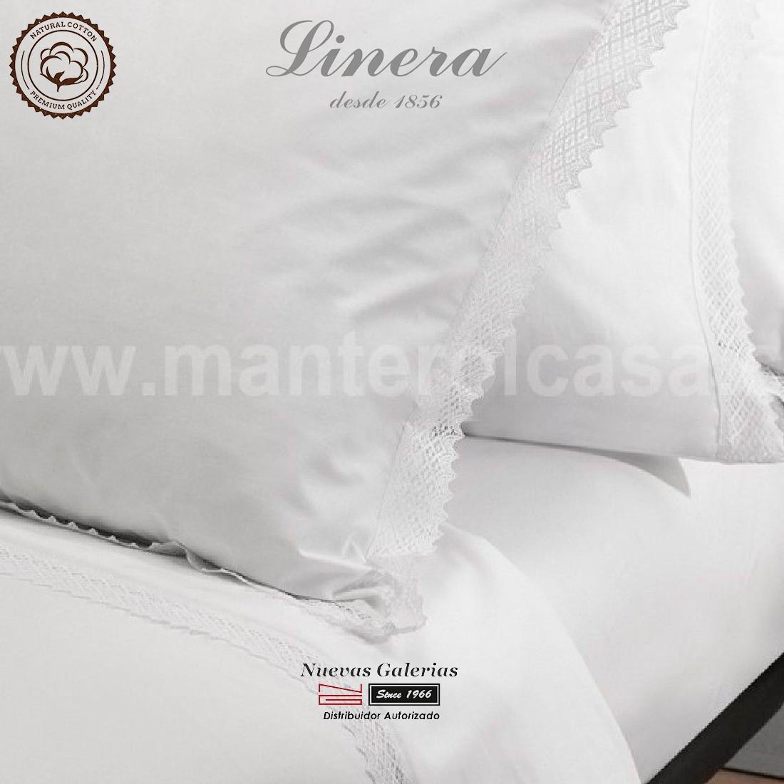 Ensemble de draps Linera de coton 200 fils | Crochet Blanc - Meille