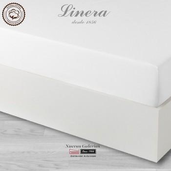 Linera Spannbettlaken Baumwolle 300 Fäden | Luxury weiß
