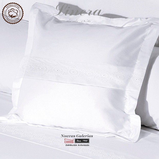 Linera Euro Sham 200 Thread Cotton | Bianca White