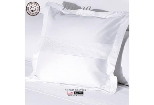 Linera Quadratische Kissenbezüge 200 Fäden | Bianca weiß