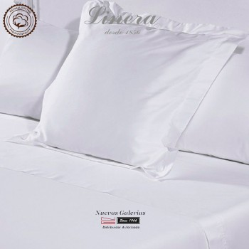 Federe Quadrate Linera 300 filo cotone | Luxury Bianco