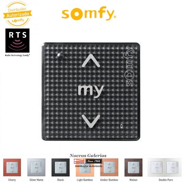 Comando da parete senza fili radio RTS Black Shine | Somfy