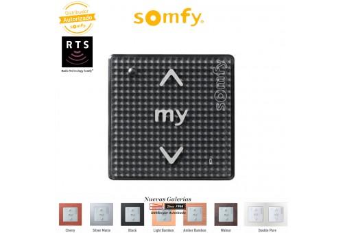 Commande murale Smoove Sensitif RTS Black Shine| Somfy