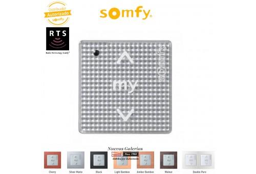 Commande murale Smoove Sensitif RTS Silver Shine| Somfy