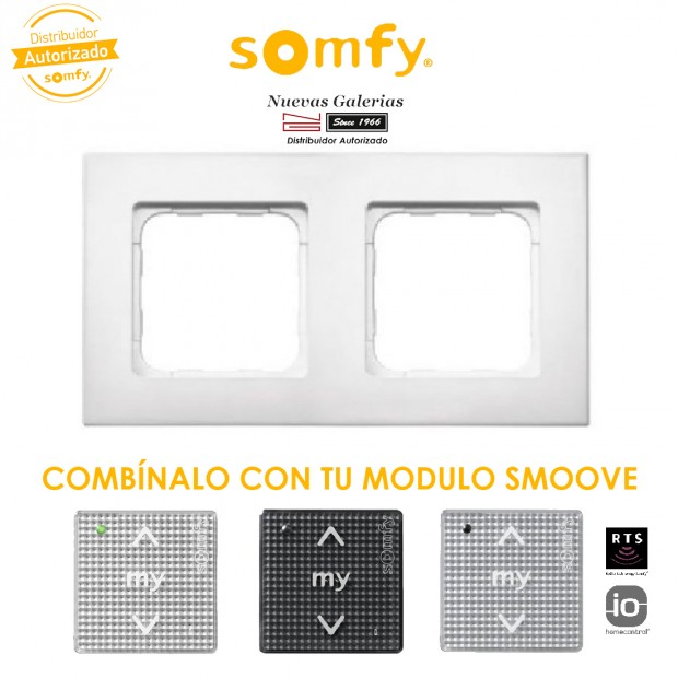 Smoove Doppel-Rahmen Pure | Somfy