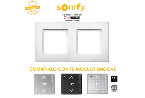 Pure White Double Frame | Somfy