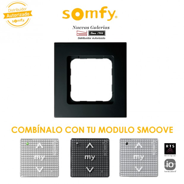 Smoove Rahmen Black | Somfy