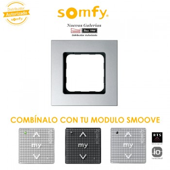 Smoove Rahmen Silver | Somfy
