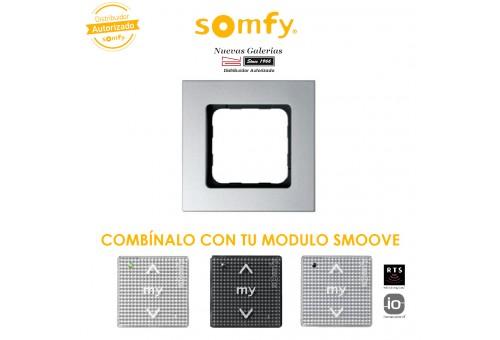 Smoove Rahmen Silver   Somfy
