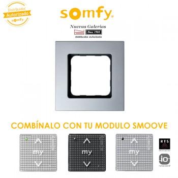 Cornice Silvermat per moduli di comando Smoove | Somfy