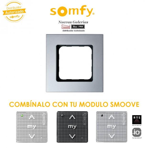 Cornice Silvermat per moduli di comando Smoove   Somfy