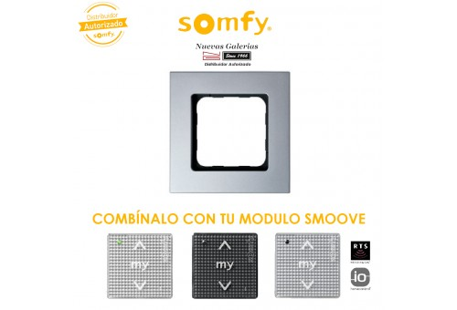 Smoove Rahmen Silvermat   Somfy