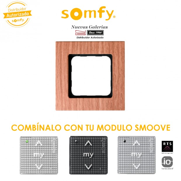 Cadre Smoove Amber Bamboo | Somfy