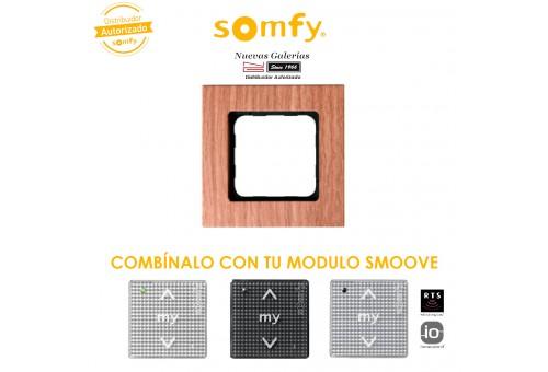Smoove Rahmen Amber Bamboo   Somfy