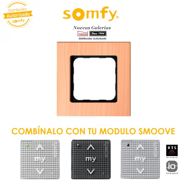 Cadre Smoove Light Bamboo | Somfy