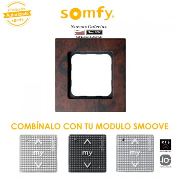 Smoove Rahmen Walnut | Somfy