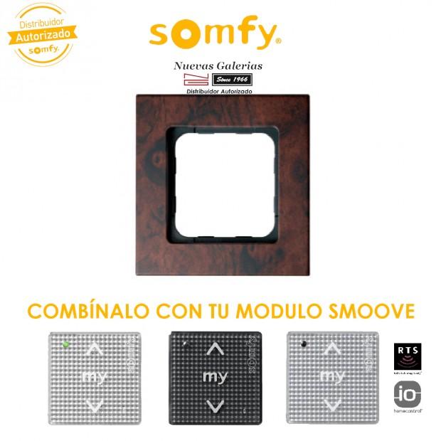 Cornice Walnut per moduli di comando Smoove | Somfy