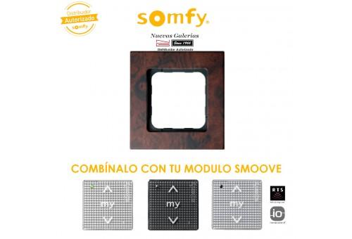 Cadre Smoove Walnut | Somfy