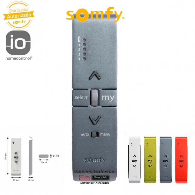 Télécommande Situo Variation A/M 5 IO Titane | Somfy