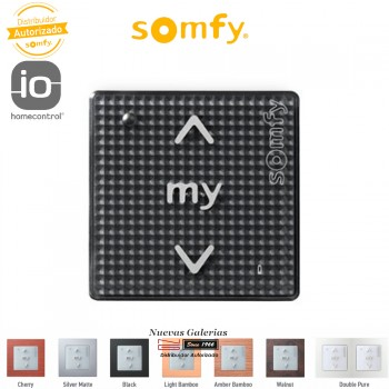 Smoove RTS Wall Switch Black Shine| Somfy
