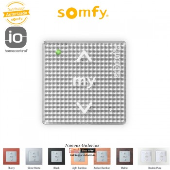 Smoove RTS Wall Switch Silver Shine| Somfy