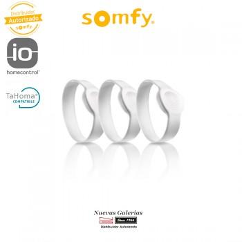 Packung mit 3 Erwachsenen Armbänder Verbundenes Schloss - 2401404 | Somfy