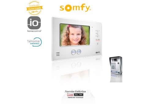 Video door phone V200 White LM - 2401290 | Somfy