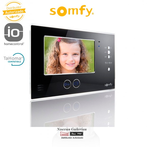 Monitor Adicional Videoportero V200 Negro - 2401177   Somfy